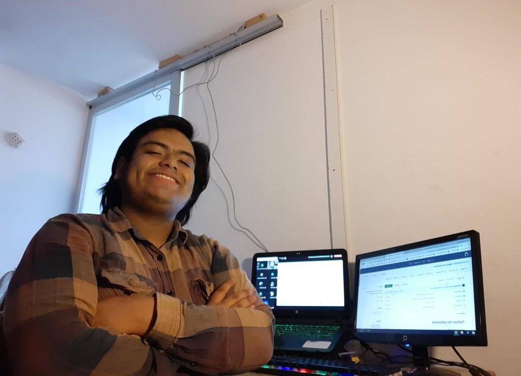 Ricardo Quispe y lugar de trabajo
