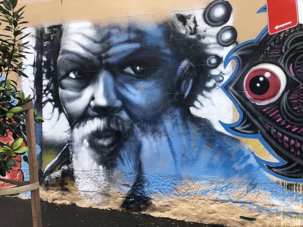 Mural Abo man