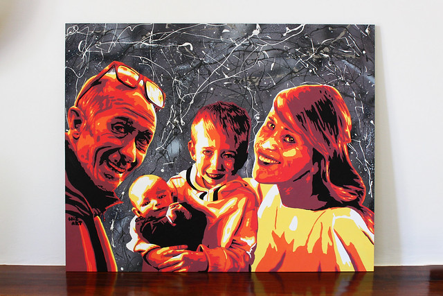 Four people family - by WIZ ART