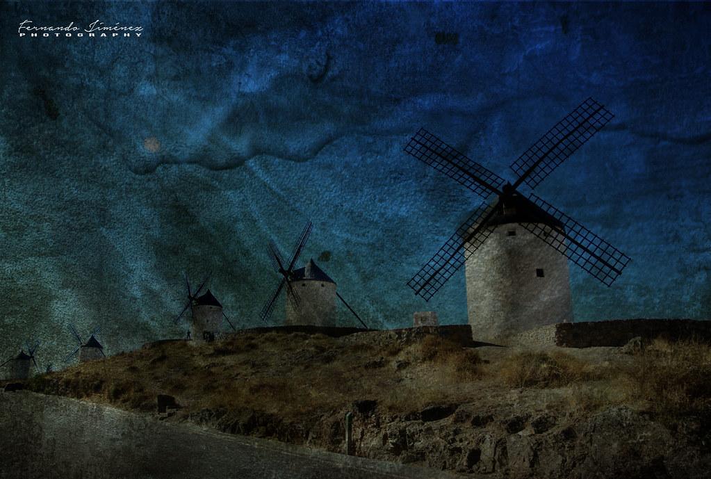Molinos en La Mancha/Windmills in La Mancha