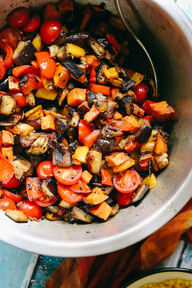 Spicy Berbere Ratatouille with Coconut Sauce