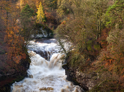 corralinn fallsofclyde riverclyde river waterfall tree trees loch light longexposure autumn fall colours red orange brown landscape newlanark scotland nikon d810 nikond810 70200mm 100mm nikkor70200mm nikkor70200mmf28