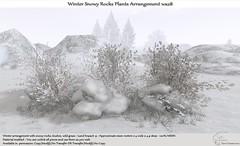 .:Tm:.Creation Winter Snowy Rocks Plants Arrangement wa28