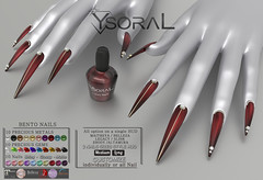 ~~ Ysoral ~~ .: Luxe Nails Mercure:.(BENTO NAILS STYLE HUD)