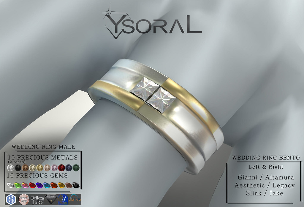 (BENTO MALE)~~ Ysoral ~~ .:Luxe Wedding Ring Nathan:.