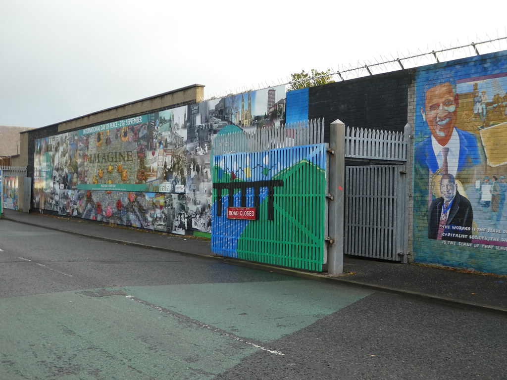 Gates along the Peace Walls in Belfast
