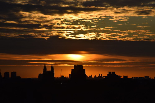 cans2s toronto sunset downtown ontario