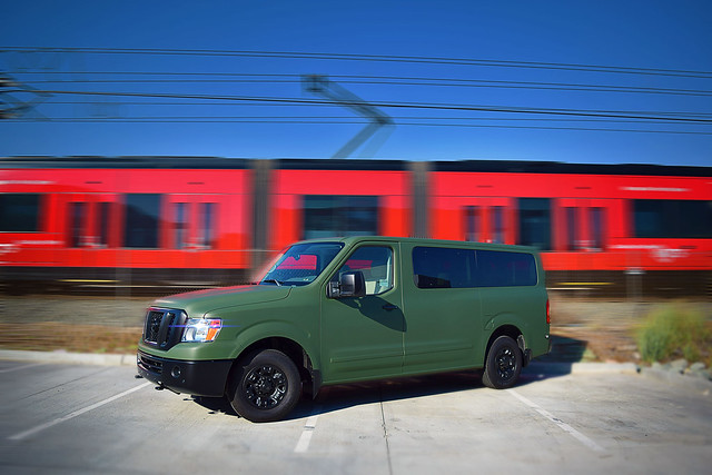 Nissan-NV-Military-green-wrap
