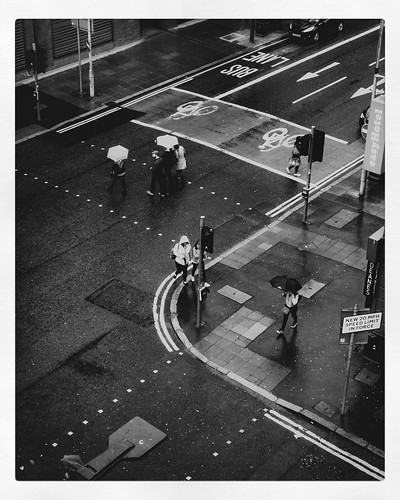 umbrella rainy urban cityview street monochrome blackandwhite