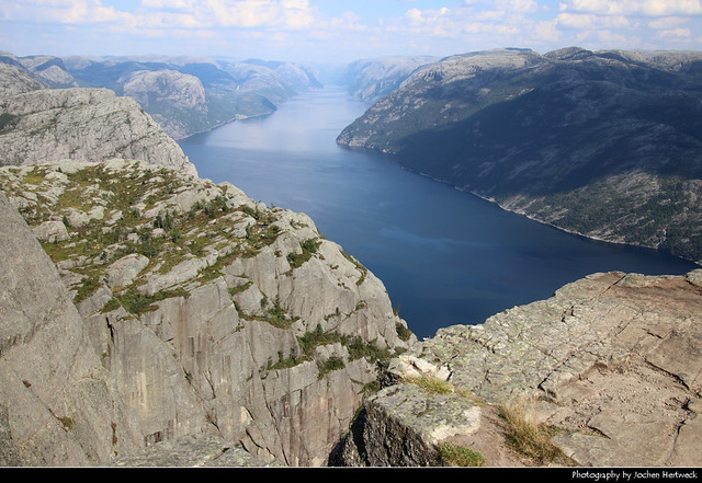 Lysefjord seen from Preikestolen, Norway