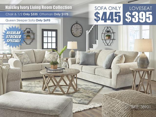 Haisley Ivory Sofa OR Loveseat_38901-38-35-23-14-T921