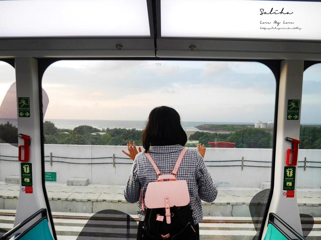 淡海輕軌幾米列車ig必拍景點可愛造景點淡水一日遊必玩景觀列車 (3)