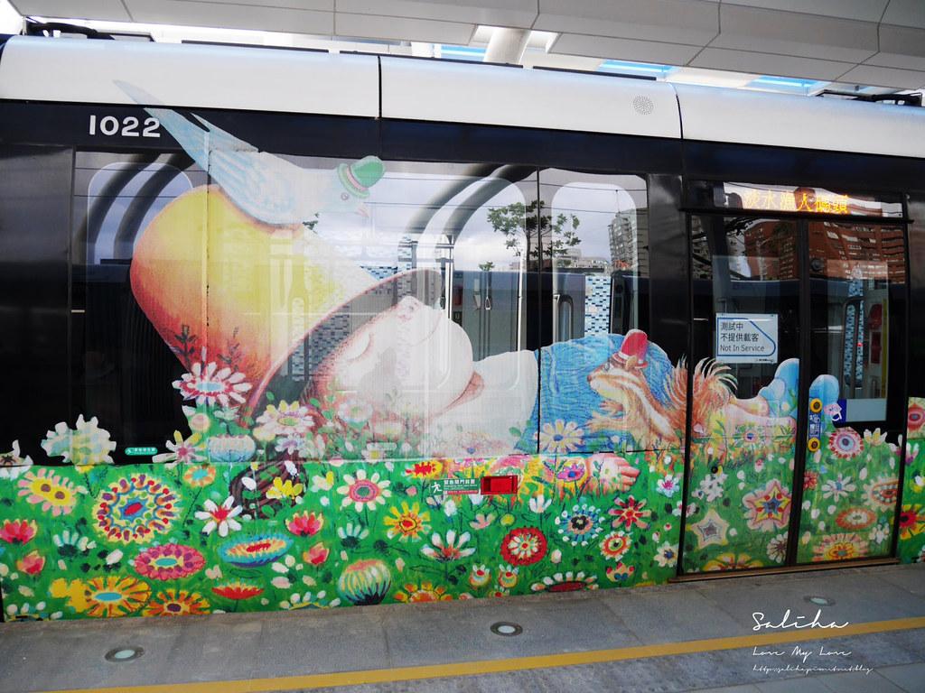 淡海輕軌幾米列車ig必拍景點可愛造景點淡水一日遊必玩景觀列車 (1)