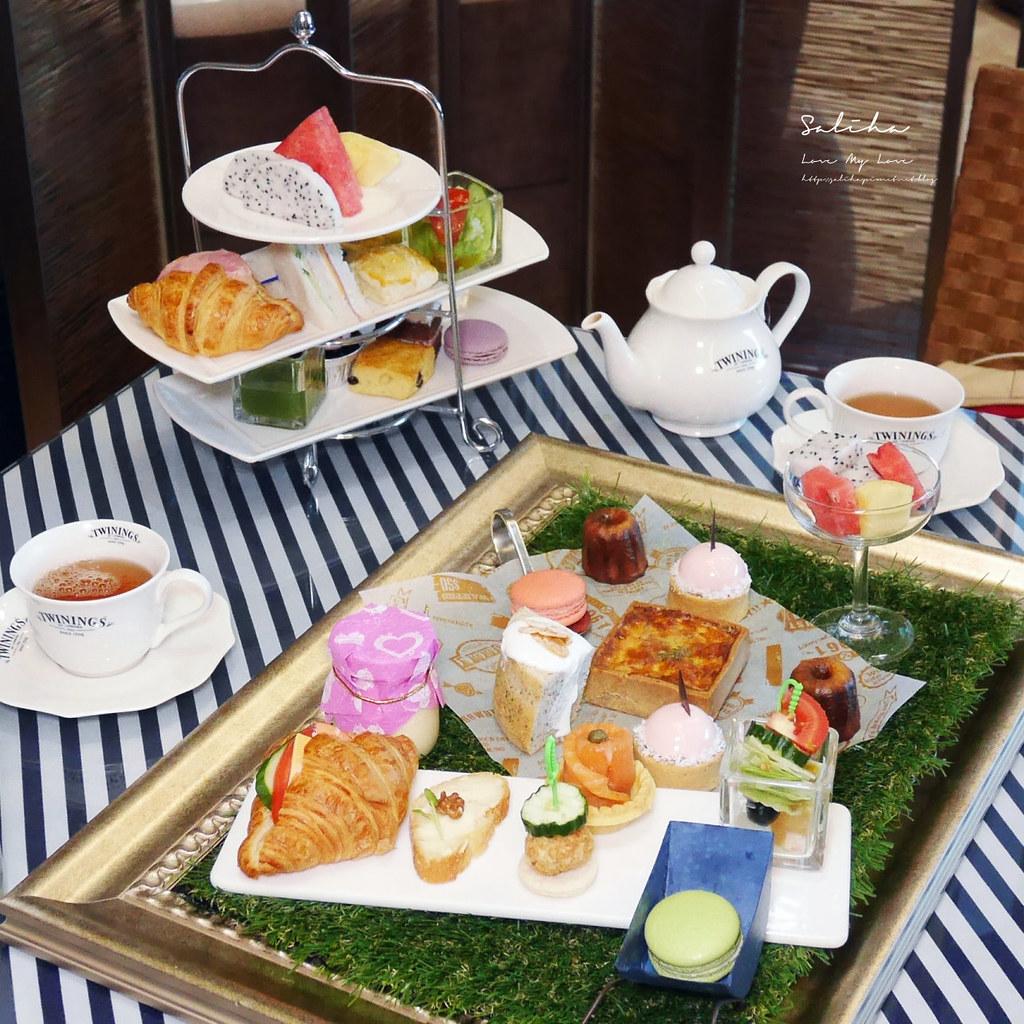 淡水住宿漁人碼頭一日遊福容飯店下午茶咖啡廳用餐情人塔景觀好玩甜點 (3)