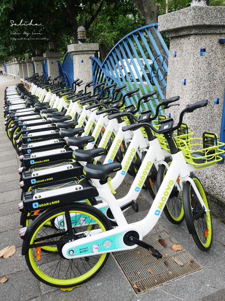淡水好玩旅行moovo電動自行車單車藍海橋路線怎麼使用站點價位一日遊騎腳踏車 (1)