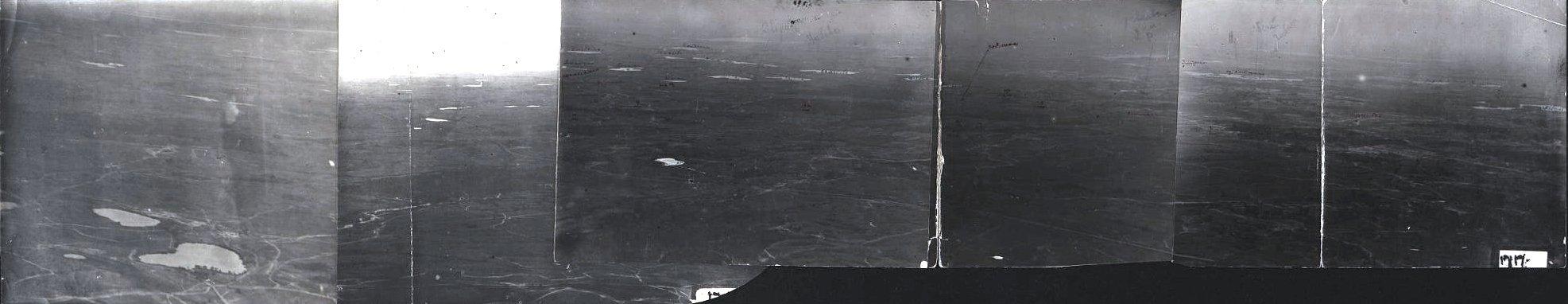 1916. Фотопланшет рабочий командира III наблюдательной станции