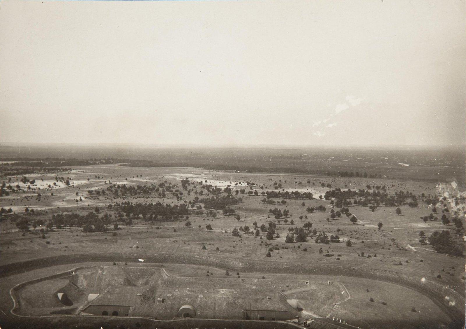 1915. Укрепления крепости Осовец, снятые с аэростата