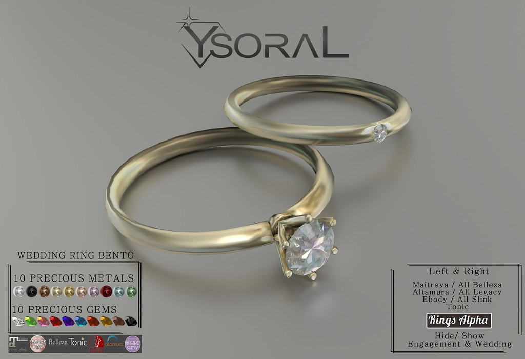~~ Ysoral ~~ .:Luxe Engagement & Wedding Ring Diana:.