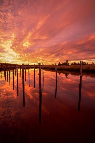 odc ending sunset redskies reflection wetreflections reflections bulkhead