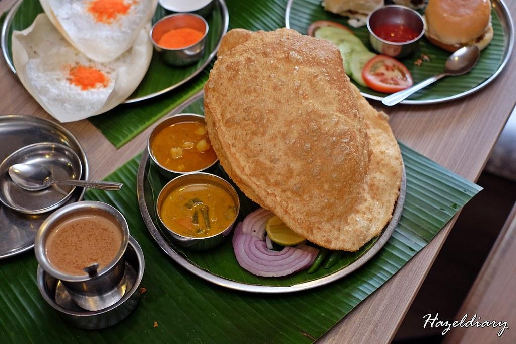 Madras New Woodlands Restaurant -Chana Bhattura
