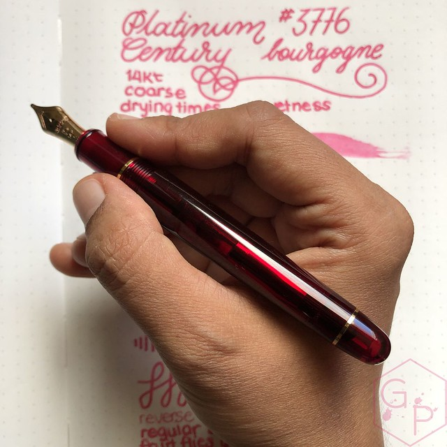Platinum #3776 Century Bourgogne Coarse Juicy Big Nib Fountain Pen 17