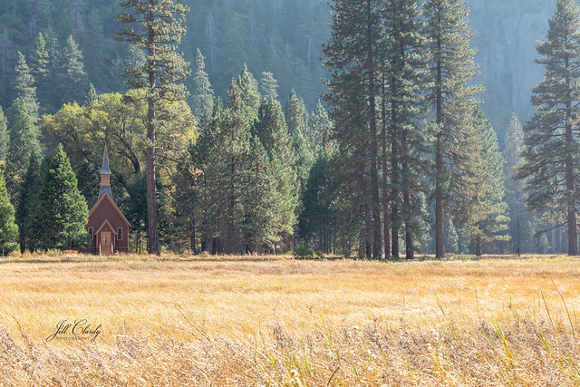 Armchair Traveling - Yosemite Valley Chapel in Autumn