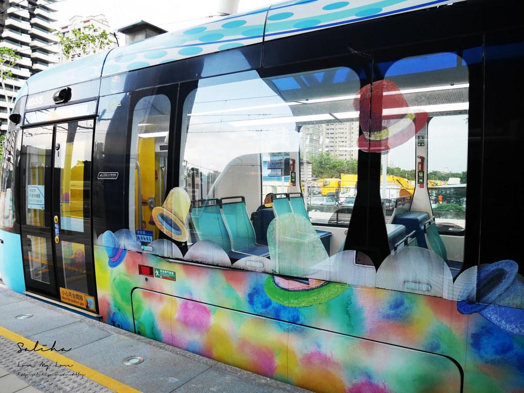 淡海輕軌幾米列車ig必拍景點可愛造景點淡水一日遊必玩景觀列車 (2)