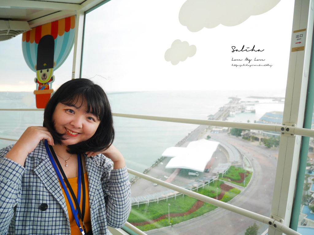 淡水住宿漁人碼頭一日遊福容飯店下午茶咖啡廳用餐情人塔景觀好玩甜點 (1)