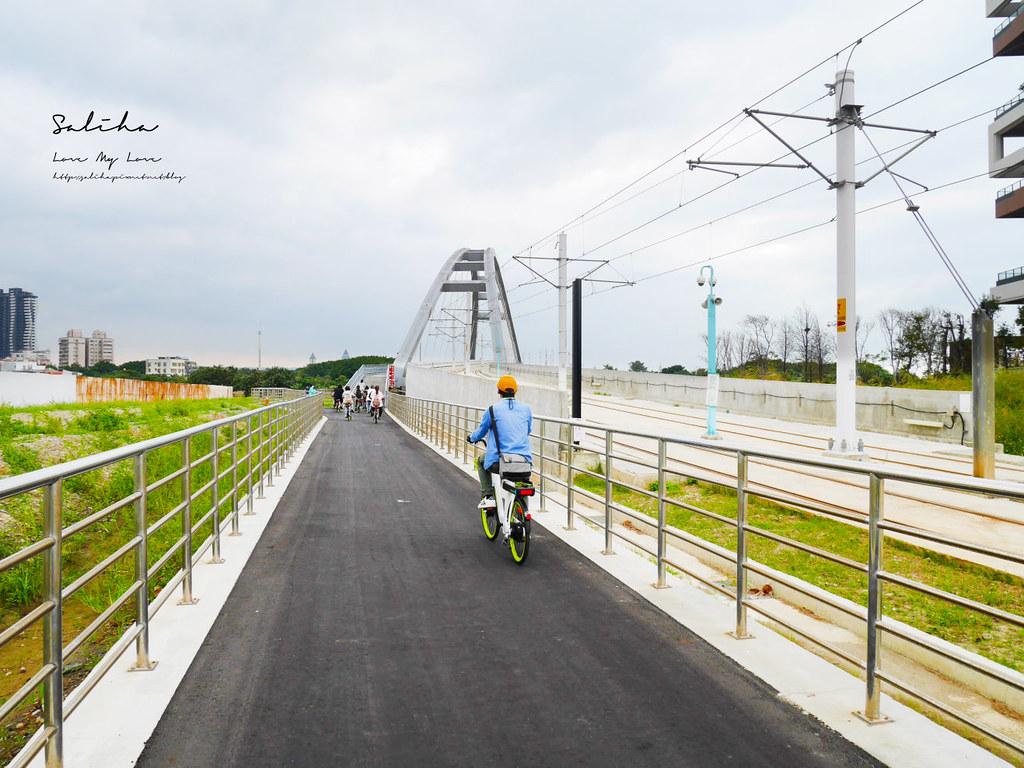 淡水好玩旅行moovo電動自行車單車藍海橋路線怎麼使用站點價位一日遊騎腳踏車 (3)