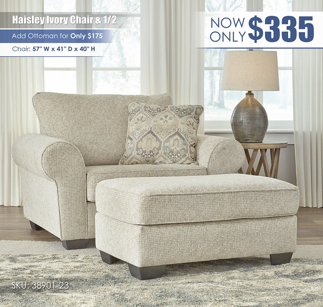 Haisley Ivory Chair and A Half_38901-23-14