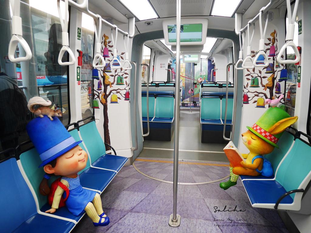 淡海輕軌幾米列車ig必拍景點可愛造景點淡水一日遊必玩景觀列車 (4)