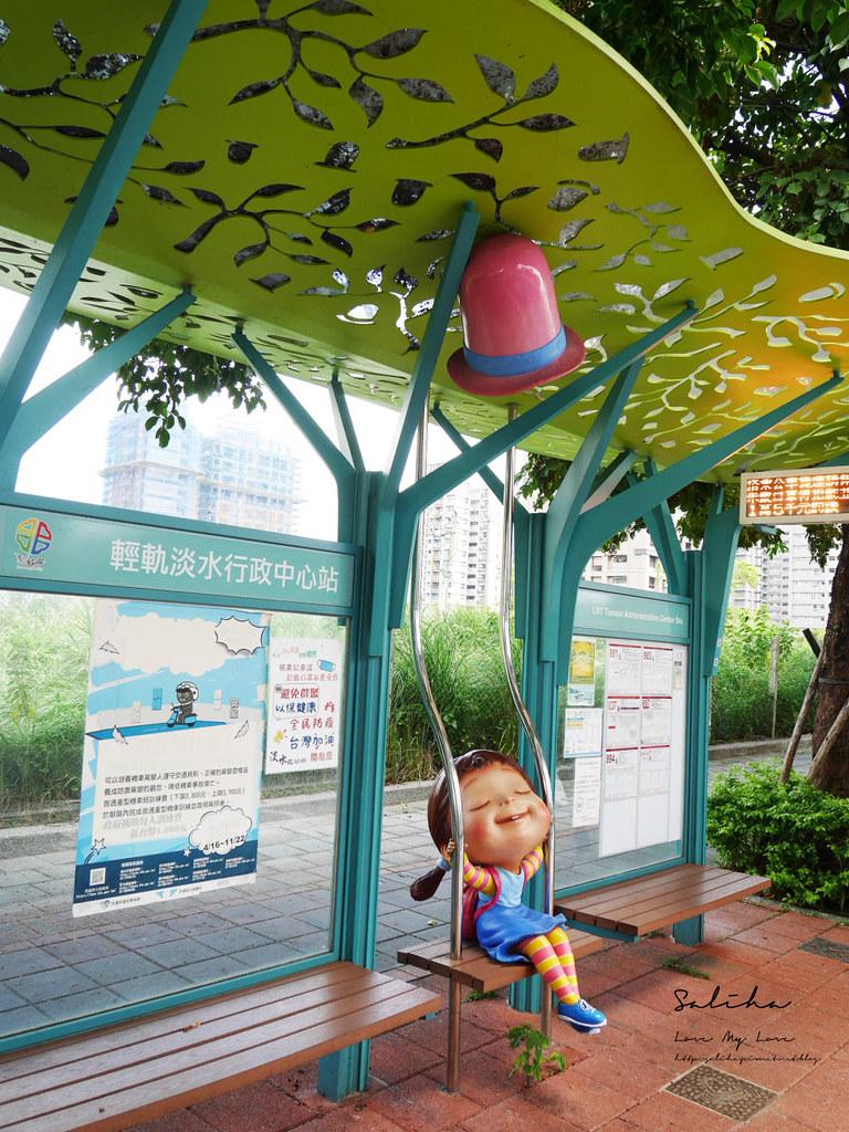 淡海輕軌淡水一日遊淡水行政中心站附近景點餐廳好拍推薦行程 (1)