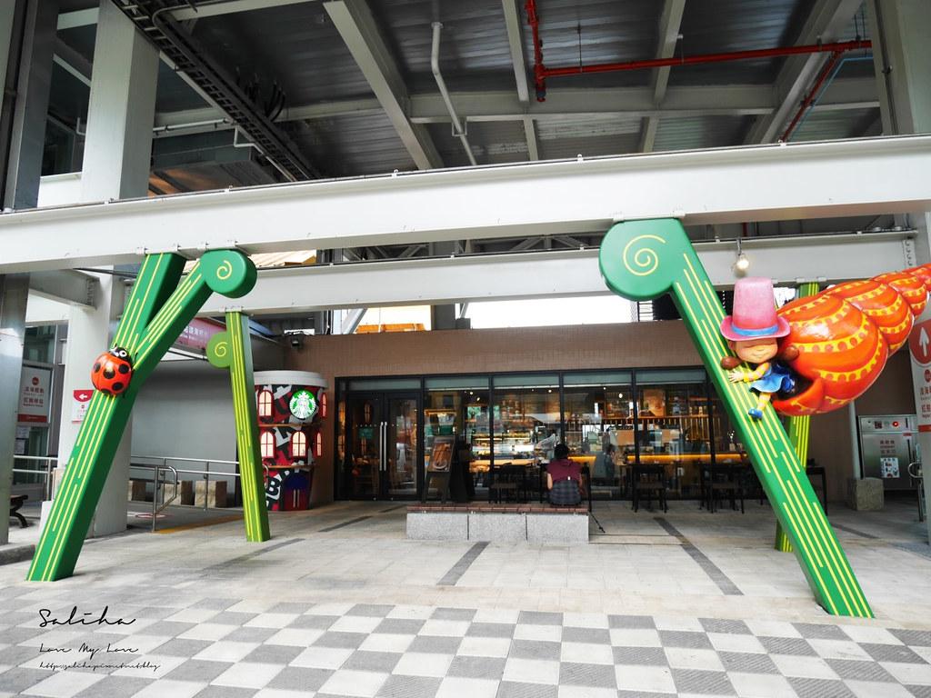 淡海輕軌紅樹林站附近設施好拍景點淡水一日遊好玩行程推薦星巴克幾米裝置藝術造景 (1)