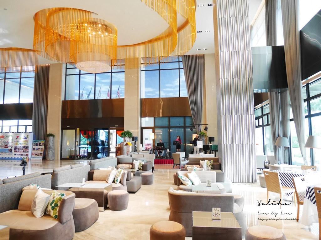 淡水住宿漁人碼頭一日遊福容飯店下午茶咖啡廳用餐情人塔景觀好玩甜點 (2)