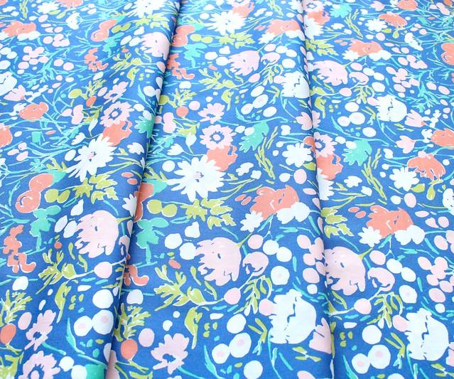 Birch Fabrics Kitty Garden JR-13 Wildflowers Afternoon