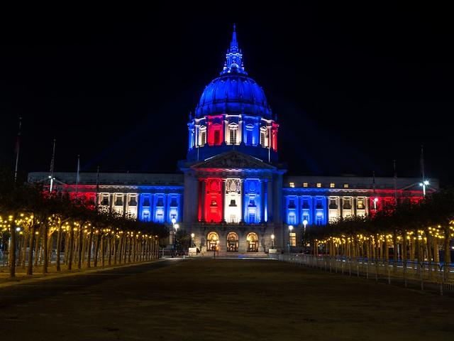 San Francisco City Hall on Election Day Eve