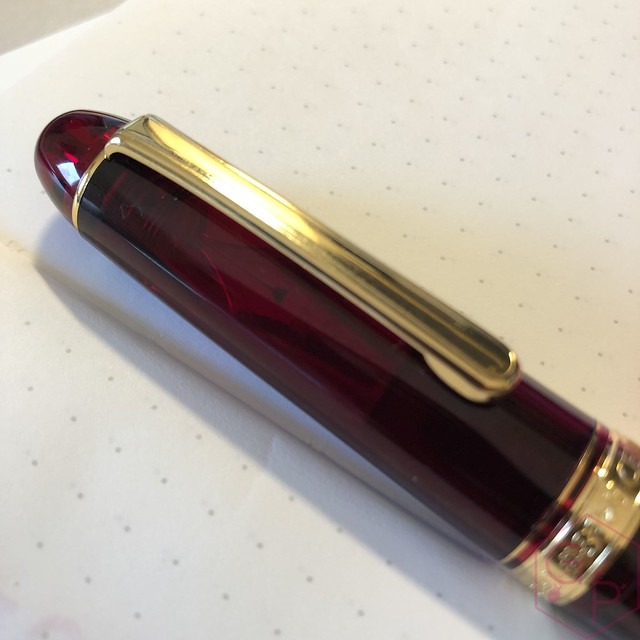 Platinum #3776 Century Bourgogne Coarse Juicy Big Nib Fountain Pen 19