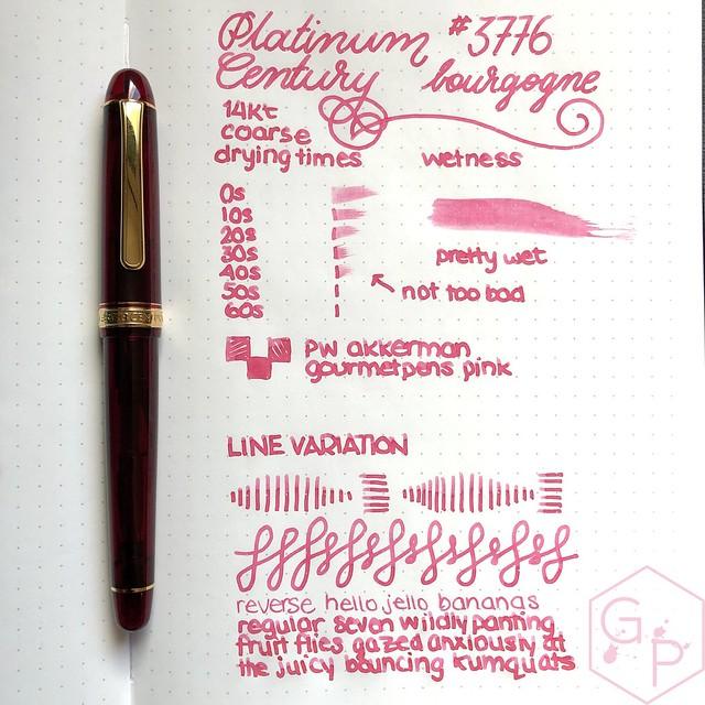 Platinum #3776 Century Bourgogne Coarse Juicy Big Nib Fountain Pen 8