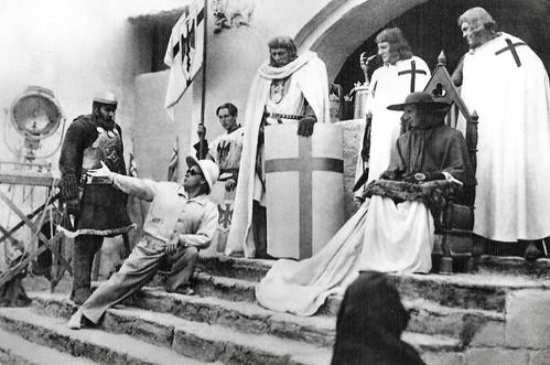 Sergei Eisenstein at the set of Aleksandr Nevskiy (1938)