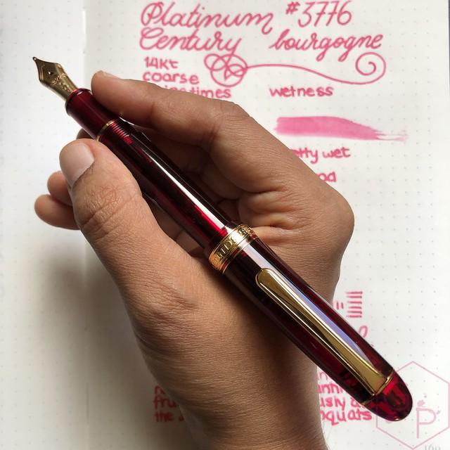 Platinum #3776 Century Bourgogne Coarse Juicy Big Nib Fountain Pen 18