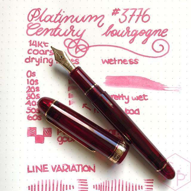 Platinum #3776 Century Bourgogne Coarse Juicy Big Nib Fountain Pen 11
