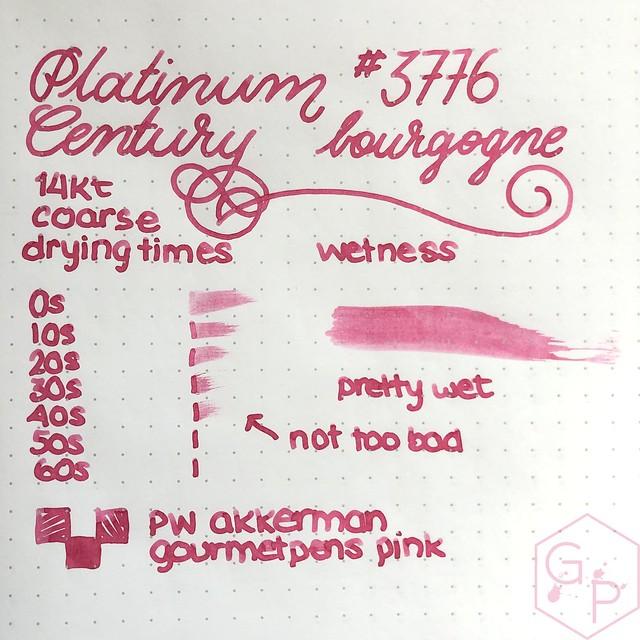 Platinum #3776 Century Bourgogne Coarse Juicy Big Nib Fountain Pen 9
