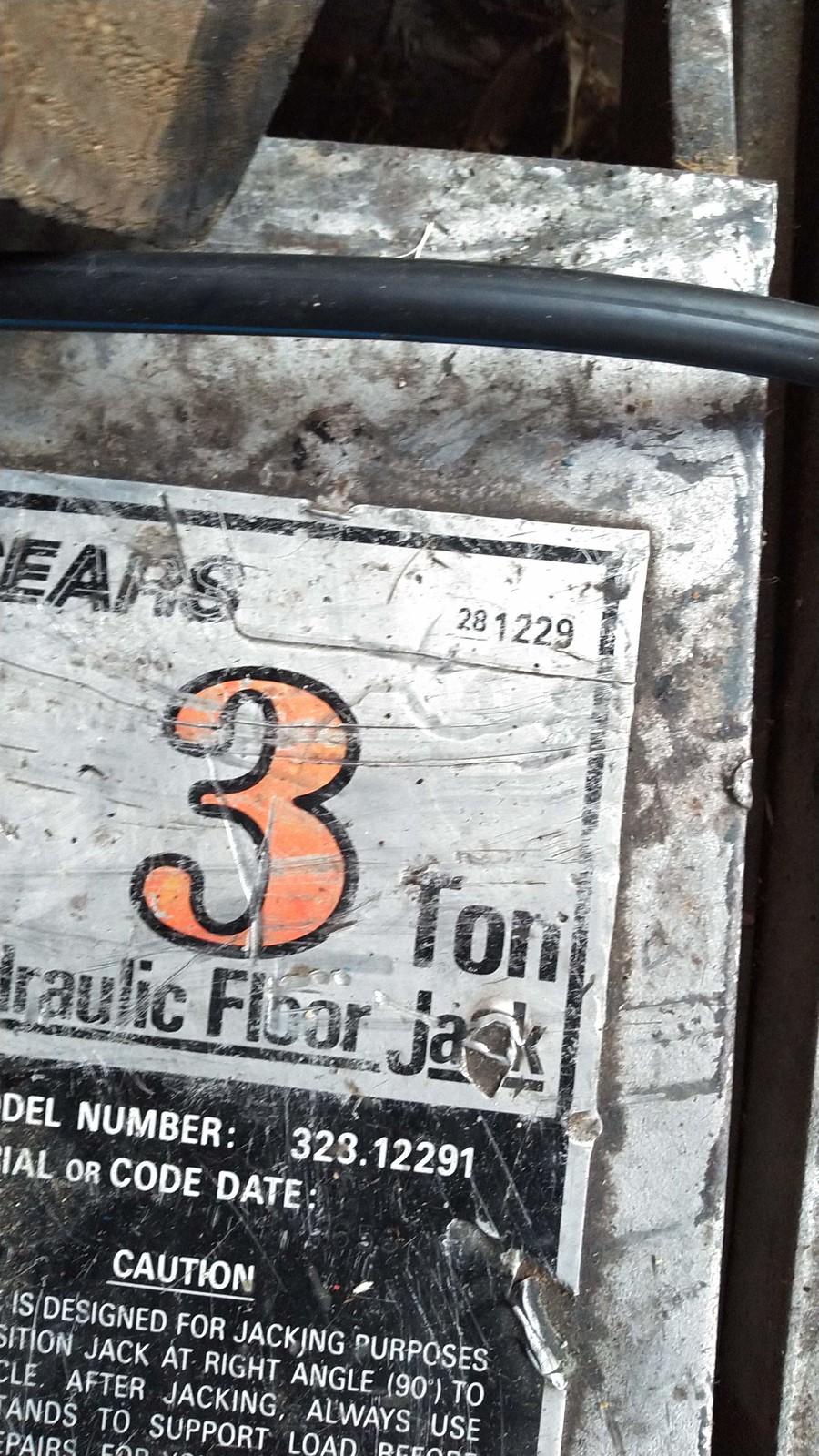 328.12291 Sears Craftsman Floor Jack 3 Ton Seal Replacement Kit