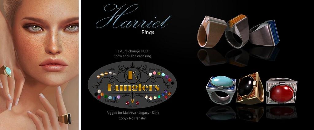 KUNGLERS Harriet rings