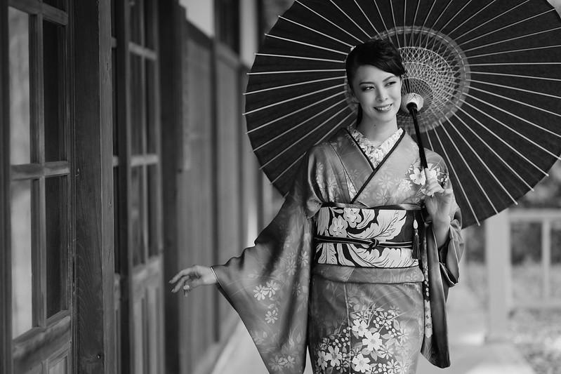 Kimono Monochrome Portrait
