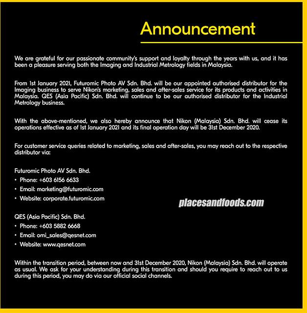 nikkon malaysia announcement