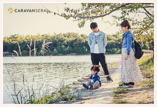 愛知県刈谷市の洲原公園には美しい池がある