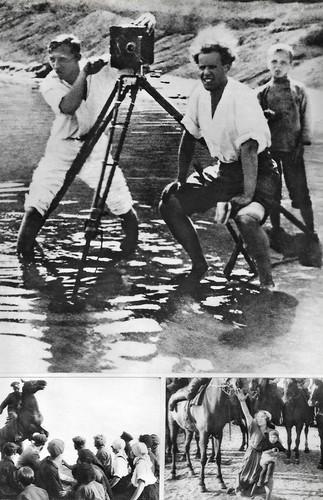 Sergei Eisenstein at the set of Stachka (1925)