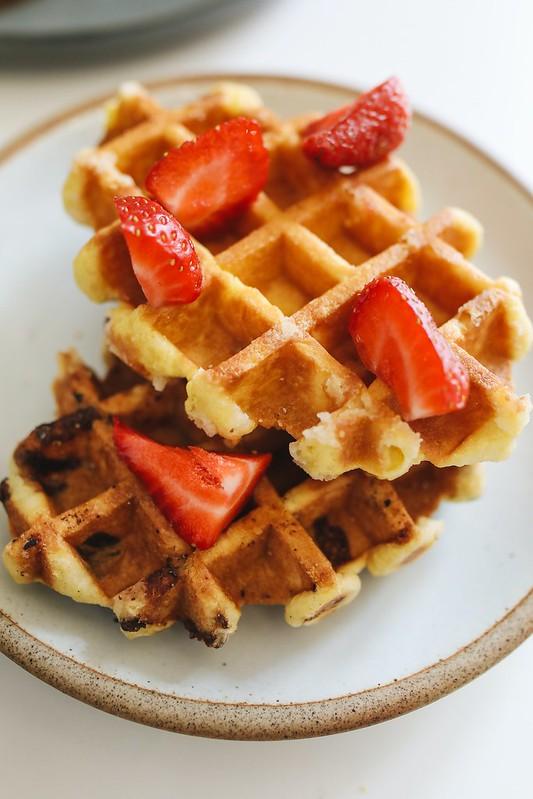 Waffles belgas estilo Liege