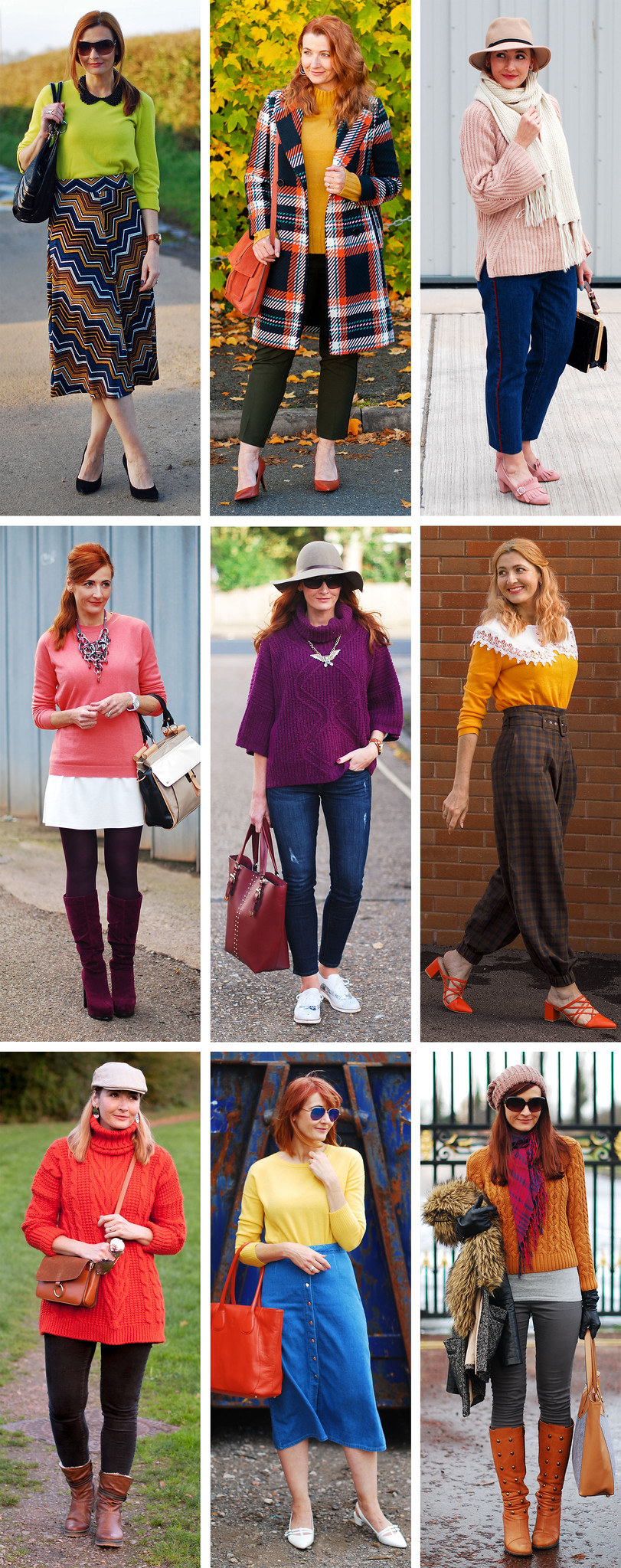 Ways to Style Solid Colour Sweaters | Not Dressed As Lamb, Over 40 Style